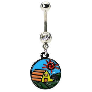 Country Farm Belly Button Ring