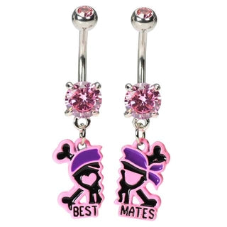 Best Friends Best Mates Pirate Belly Button Rings