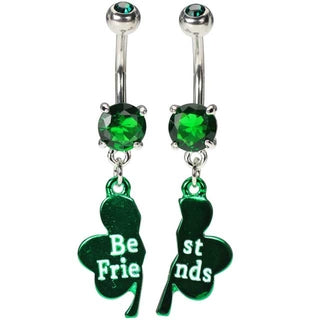 Best Friends Clover Belly Ring Set