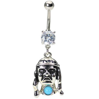 Indian Head Belly Button Ring
