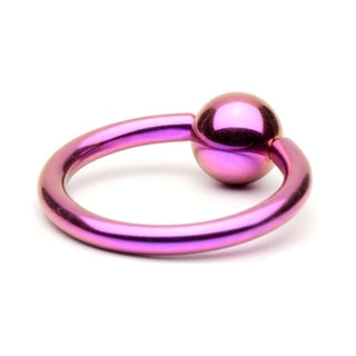 Purple Titanium Captive Bead Ring