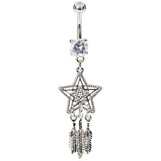 Star Dream Catcher Belly Button Ring