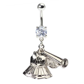 Cheerleader Uniform Belly Button Ring