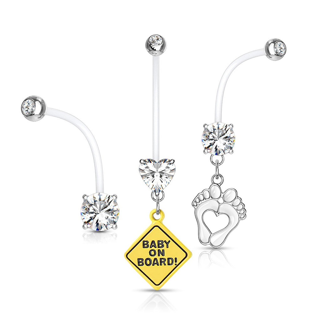 3 Pack Pregnancy Belly Rings