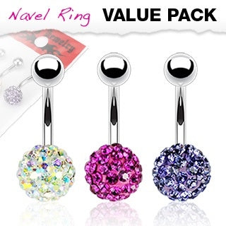 3 Pack Ferido Belly Rings