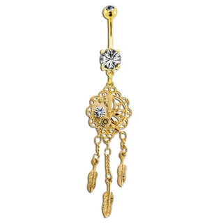 Steampunk Dreamcatcher Belly Button Ring