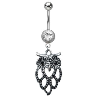 Cutout Owl Navel Ring