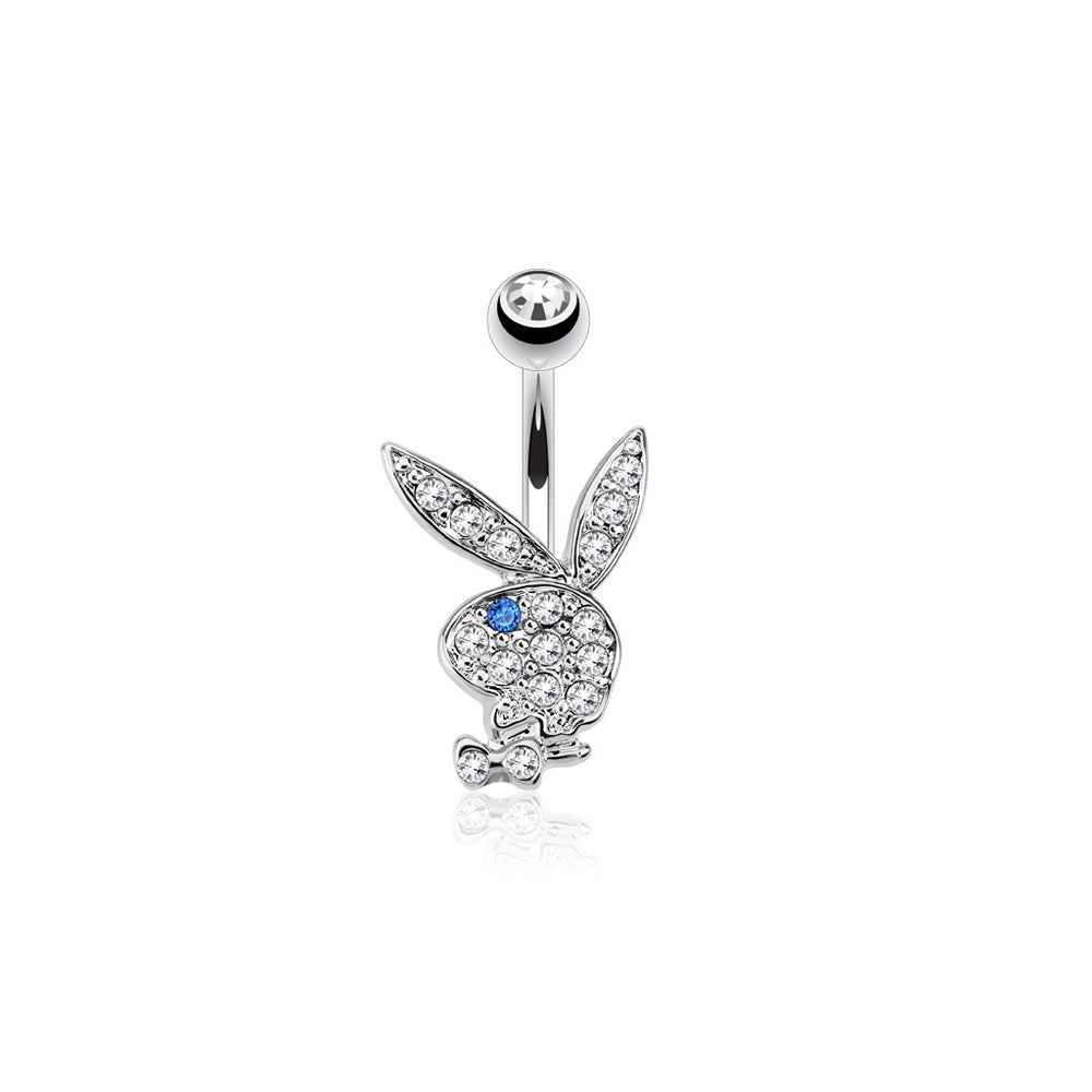 Playboy Bunny Blue Eye Belly Ring
