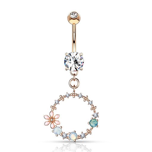 Rose Gold Circular Belly Ring