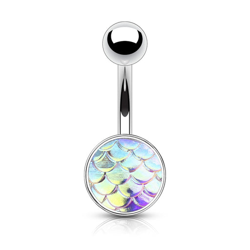 Iridescent Fish Scale Belly Ring
