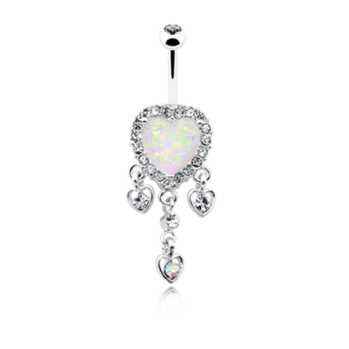 Dangling Hearts Belly Ring