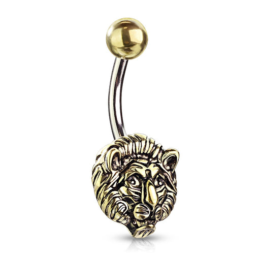 Golden Lion Belly Ring