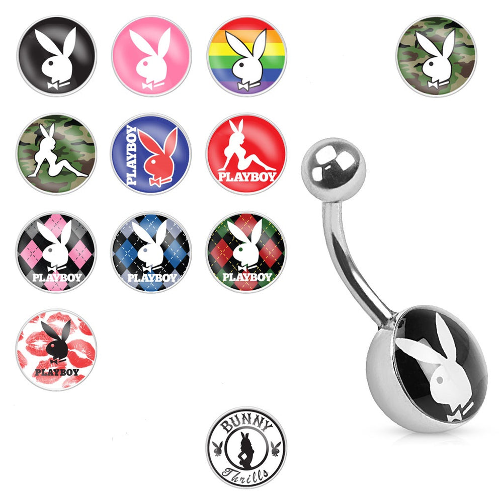Playboy Bunny Logo Belly Ring
