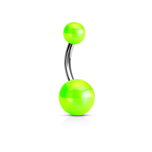 Metallic Belly Ring Green