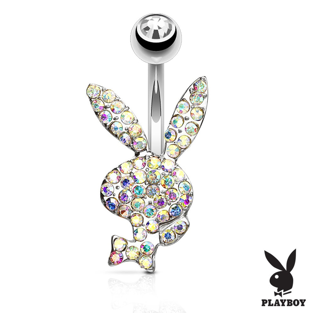 Iridescent Playboy Belly Ring