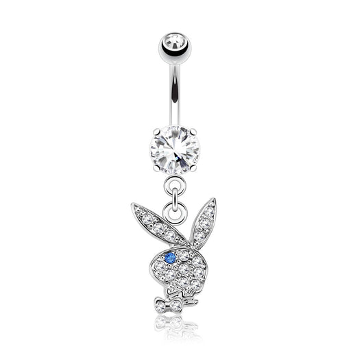 Playboy Bunny Dangling Belly Ring