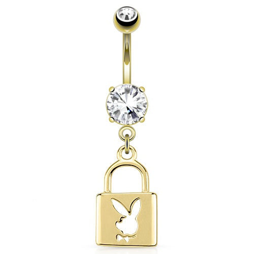 Playboy Bunny Locket Belly Ring