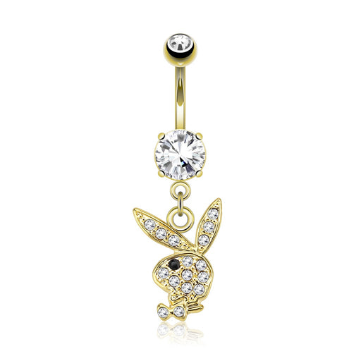 Playboy Bunny Gold Plated Belly Ring