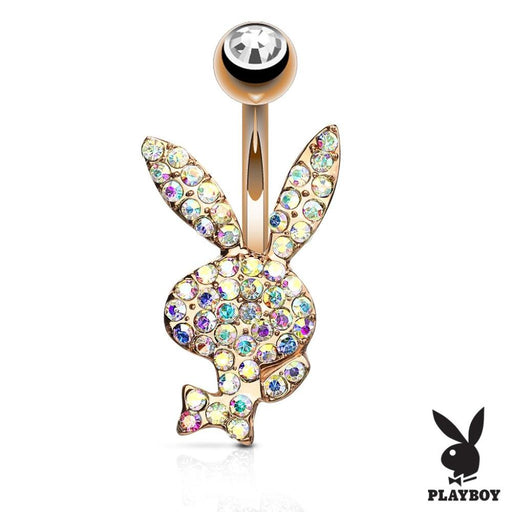Crystal Paved Rose Gold Playboy