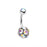 Sparkle Multi Gem Belly Ring