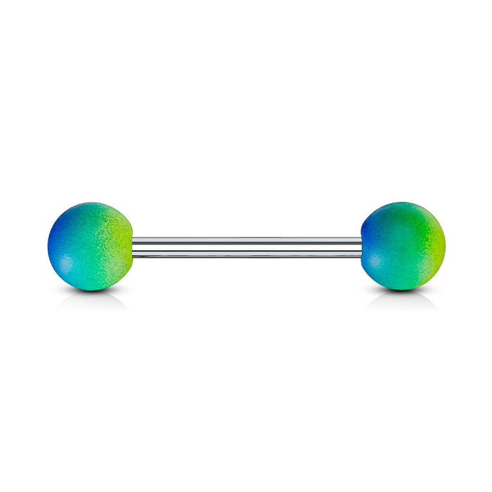 Two Tone Green Tongue Ring