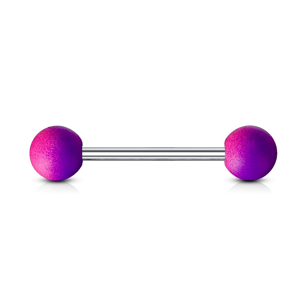 Two Tone Purple Tongue Ring