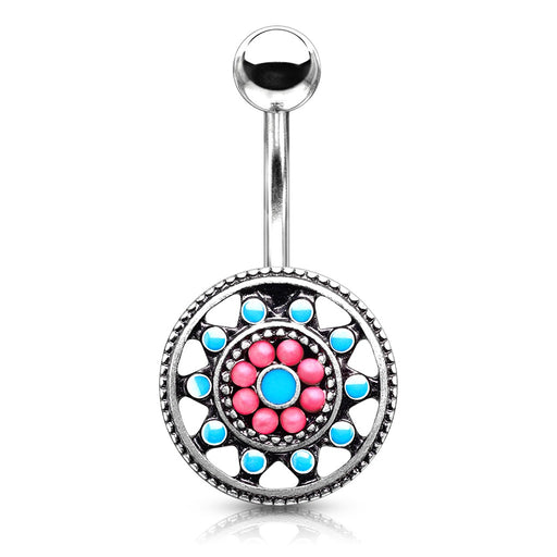 Beaded Sun Belly Ring