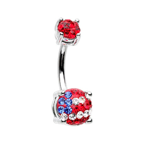 American Flag Sprinkle Belly Ring