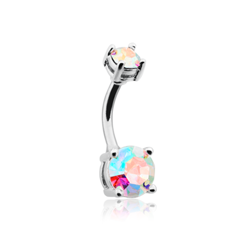 Aurora Sparkle Gem Belly Ring