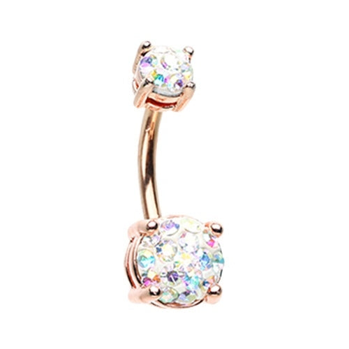 Rose Gold Sprinkle Belly Ring