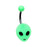 Green Alien Belly Ring