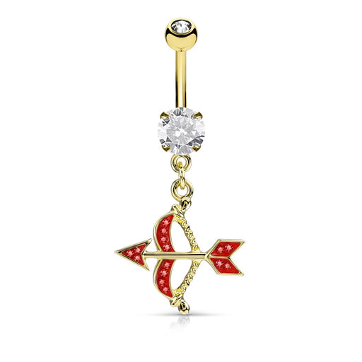 Cupid Bow and Arrow Belly Ring