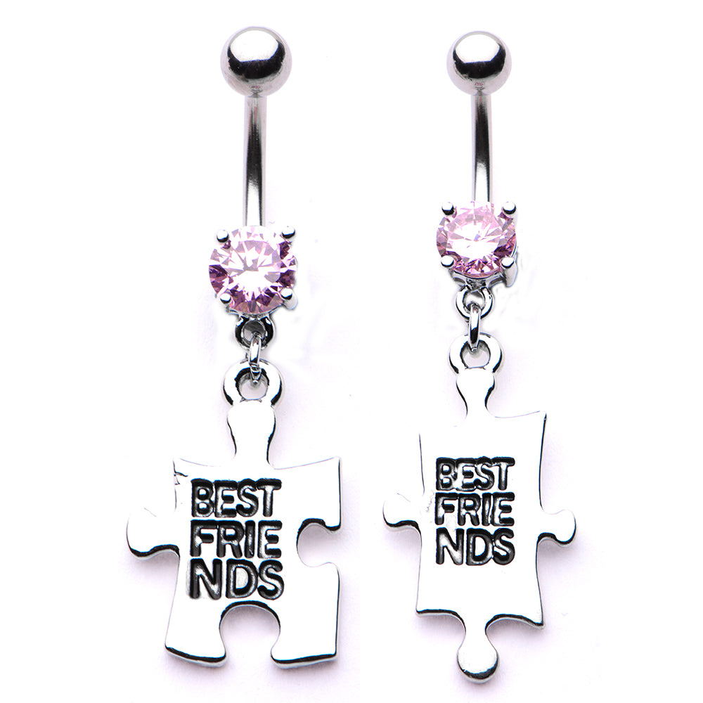 Best Friends Puzzle Belly Rings