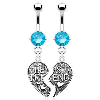 Aqua Best Friends Belly Rings