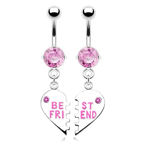 Best Friends Belly Rings - Pink