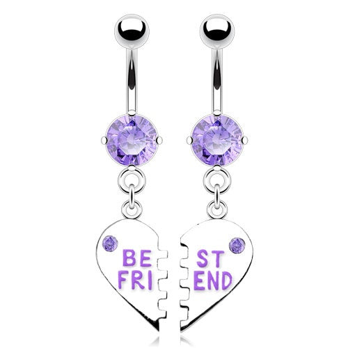 Best Friends Belly Rings - Purple