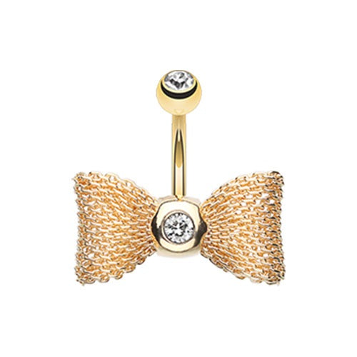 Mesh Bow Tie Belly Ring