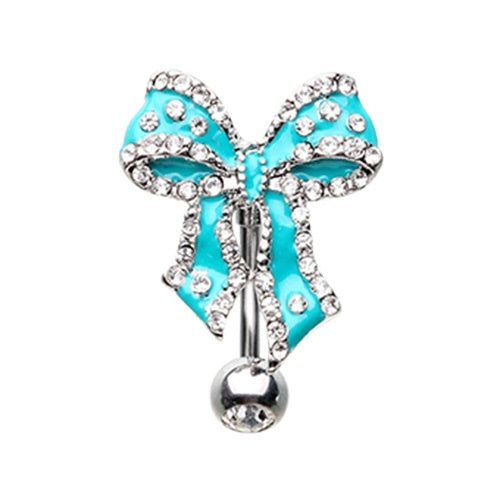Reverse Bow Tie Belly Ring