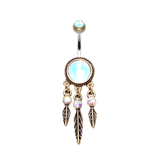 Antique Dreamcatcher Belly Ring - Brass