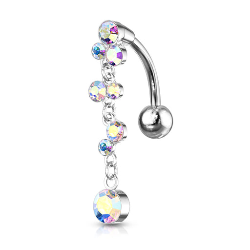 Irridescent Crystal Bubbles Belly Ring