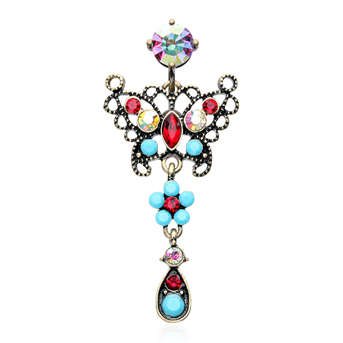 Reverse Boho Butterfly Belly Ring