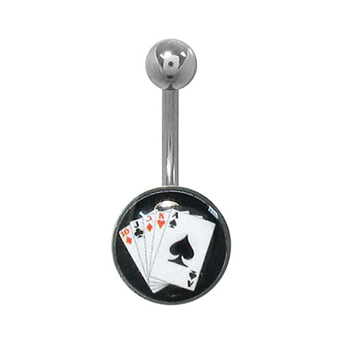 Playing Cards Belly Ring
