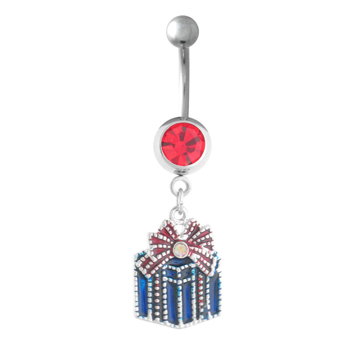 Christmas Present Belly Ring