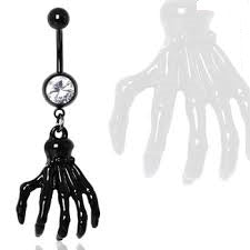 Zombie Claw Gemmed Belly Ring