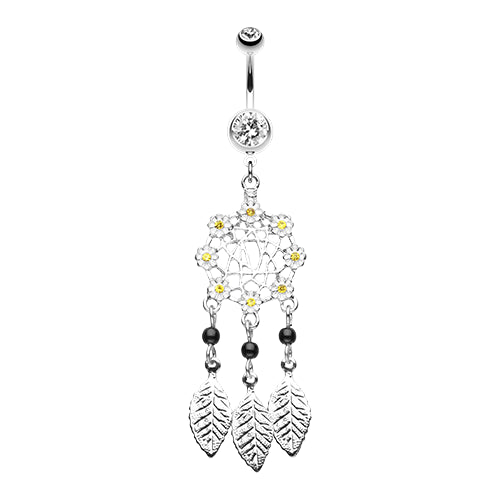 Daisy Glam Dreamcatcher Belly Ring
