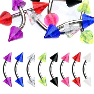 UV Spike Eyebrow Rings