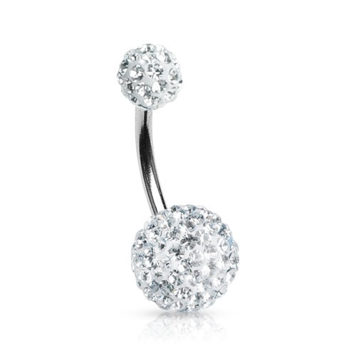 Clear Swarovski Crystal Ferido Belly Ring