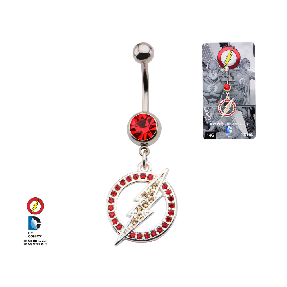 Flash Logo Belly Ring