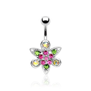 Fantasy Flower Belly Ring