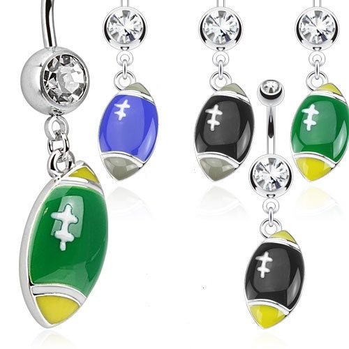 Dangling Football Belly Ring
